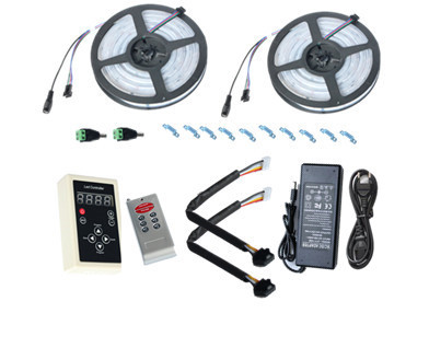 10M 6803 LED RGB Strip 150LED 5050  Digital IP67 Dream Magic Color  Waterproof  LED Strip + RF6803 Controller+12V8A Power supply
