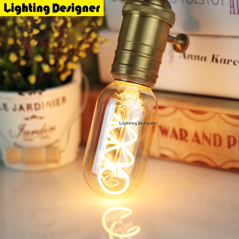 T45 dimmable light Edison bulb LED E27 220V 4W bubble ball bulb Vintage Filament Retro Energy saving lamp light Lighting chandel 50pcs 6w e27 b22 led bulb st64 retro vintage edison led filament glass light lamp warm white energy saving lamps light ac220v