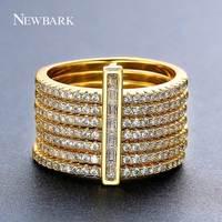 NEWBARKใหม่หนึ่งแหวนซ้อนชุดรวม7ชิ้นรอบแหวนNondetachableฝังCZหินคลาสสิกแฟชั่นผู้หญิงเครื่องประดับ