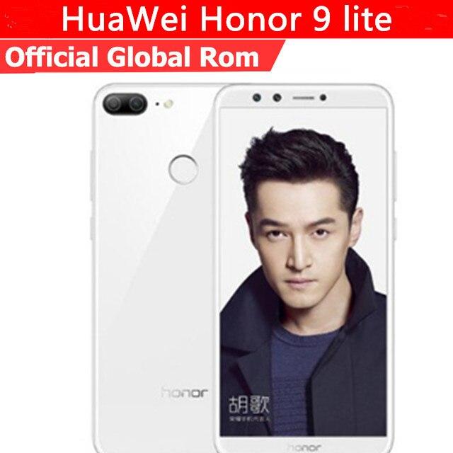 """Оригинальный HuaWei Honor 9 Lite 4G LTE Мобильного Телефона Kirin 659 Android 8,0 5,65 """"полный Экран 3 ГБ Оперативная память 32 ГБ Встроенная память 4 отпечаток пальца камеры"""