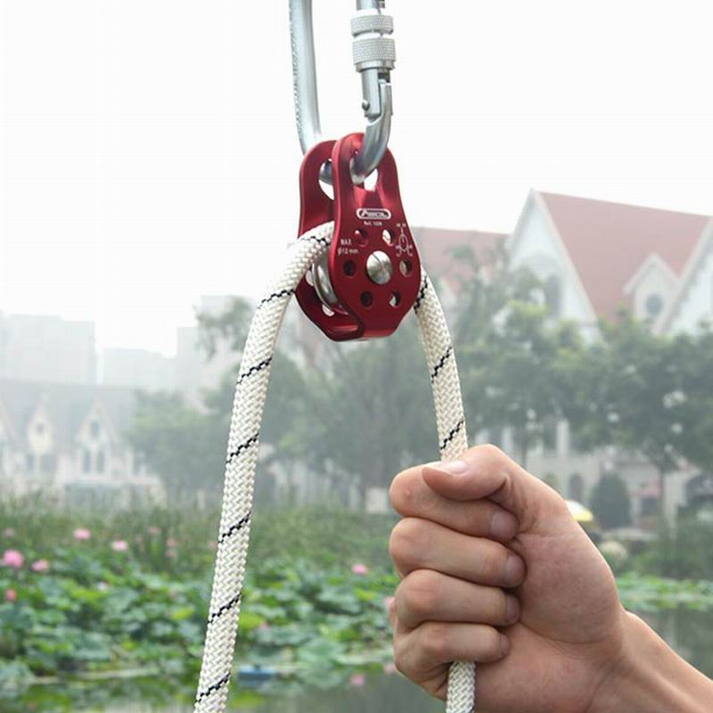 Outdoor Climbing Pulleys Single Fixed Pulley Caving Exploration Tools Cross Rescue Equipment