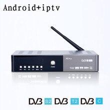 DVB-S2 DVB-T2 DVB-C Combo android tv box IPTV digital satellite Europa französisch Deutsch UK Spanien Live TV Unterstützung 4 Karat set top Box