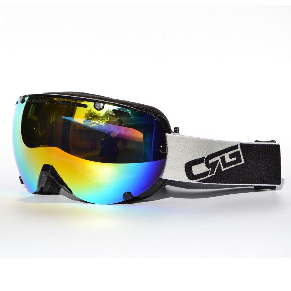 Mg-017a-bk-co CRG бренд лыжные очки двойной линзы Анти-Туман UV400 Mulit лыжный Очки Лыжный спорт Сноуборд Для мужчин Для женщин унисекс очки