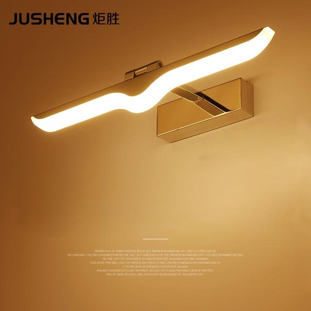 JUSHENG Moderne Led Mur Lampe Chrome Applique Pour Salle de Bain