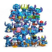 10/24ชิ้น/ล็อต6.5Cm Stitchอะนิเมะของเล่นStitchรูปแกะสลักตุ๊กตาCreative Diy Collection Action Figureของเล่นสำหรับเด็ก