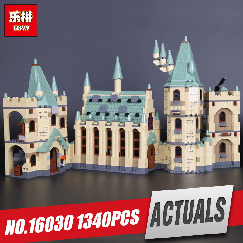 New Lepin 16030 The Hogwarts Castle 1340pcs Creative Movies Building Block Bricks Compatible 4842 Educational  Toy for children keys to the castle
