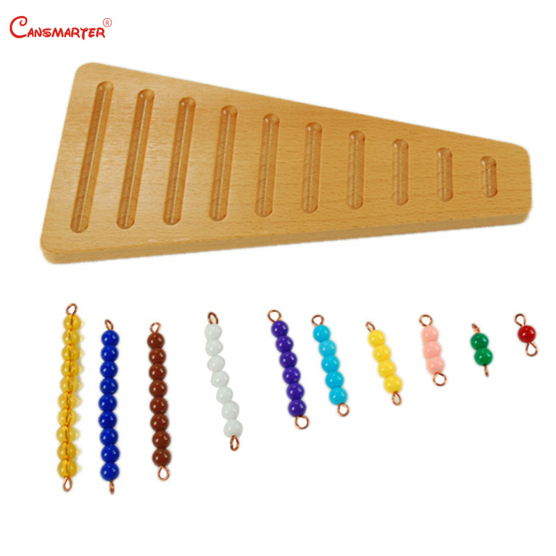 Preschool Teaching Aids Beads Base for Children Kids Educational Toys Wood Montessori Materials Number Counting Math Toy MA098-3