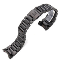 22mm Stainless Steel Watch Band Strap Silver Mens Luxury Replacement Curved End Metal Watchbands Watch Bracelet