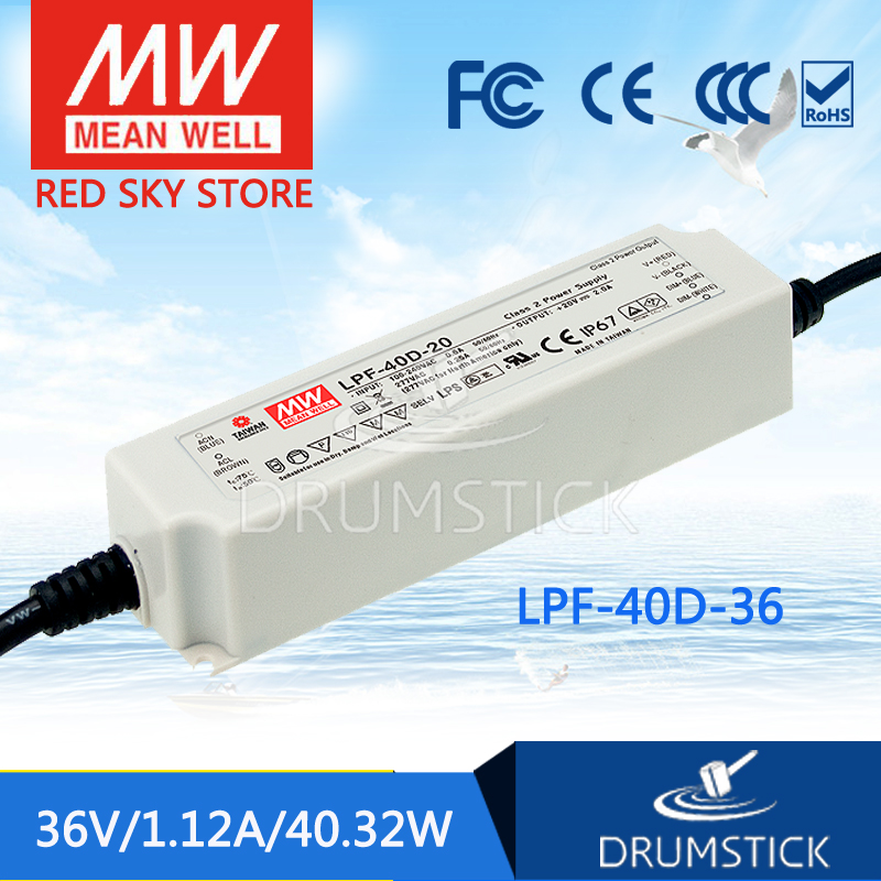 Advantages MEAN WELL LPF-40D-36 36V 1.12A meanwell LPF-40D 36V 40.32W Single Output LED Switching Power Supply mean well original npf 40d 36 36v 1 12a meanwell npf 40d 36v 40 32w single output led switching power supply