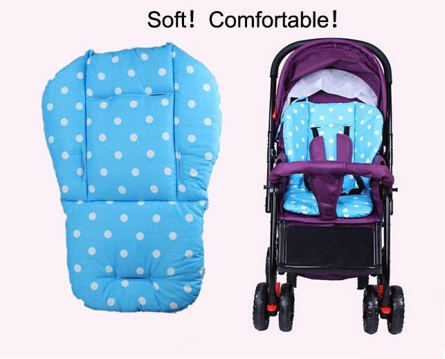 ცხელი ახალი ბავშვი Stroller Cushion Stroller Pad Cover Cover Pram Padding Liner Car Seat Pad მრგვალი წერტილი ზოგადი ბამბა სქელი მაუსი ცხელი მცურავი