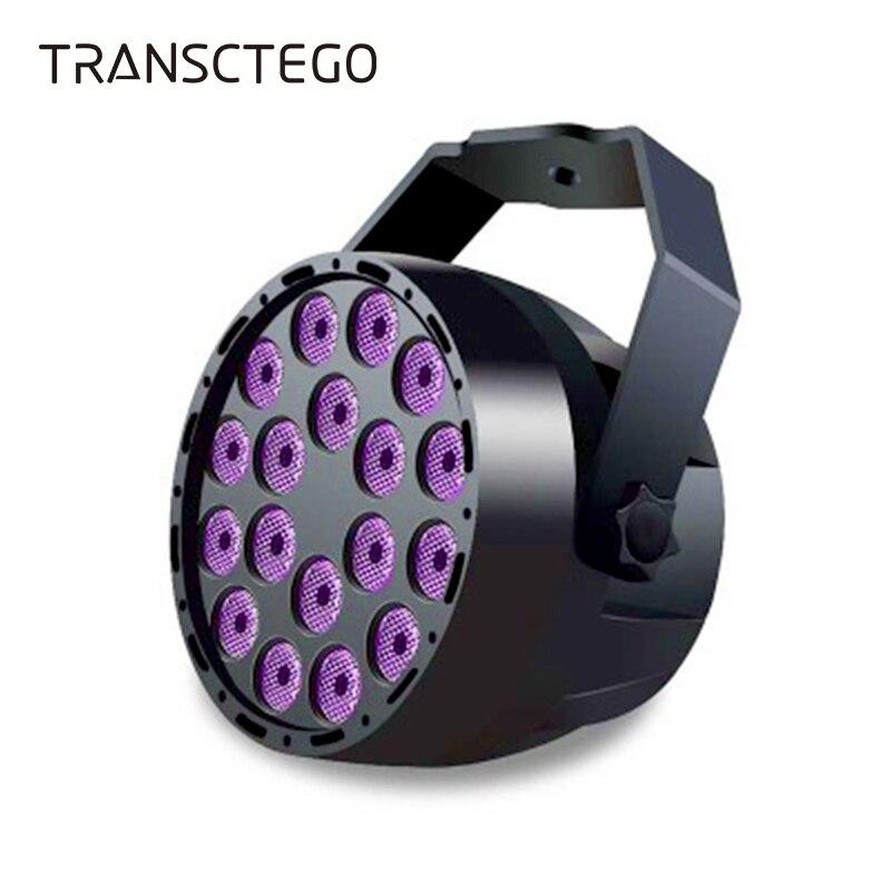 UV Disco Light Dance Party Lamp Spotlight LED Stage Par Lights DMX Violet Purple DJ For Party KTV Hallowmas Family Stage Lights