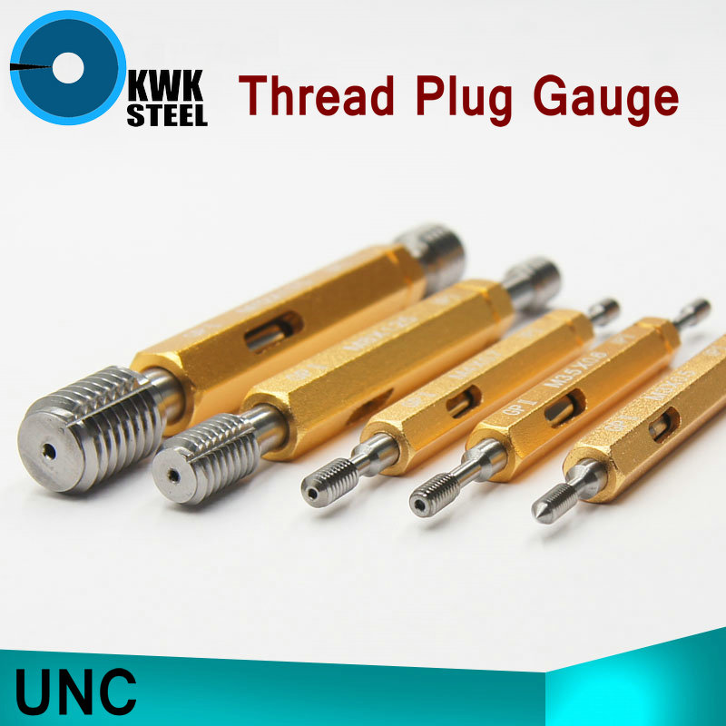 Thread Plug Gauge GO/NO GO Gage UNC 5/16-18UNC NO.6-32UNC 2B 8-32UNC 2B NO.4-40UNC HSS Material Hardness HRC53-60 m21 x 1 right hand thread gauge plug gage