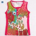 Novatx menina roupas de verão crianças camisa de t para menina camiseta sem mangas crianças dos miúdos camiseta de algodão meninas roupas N2722