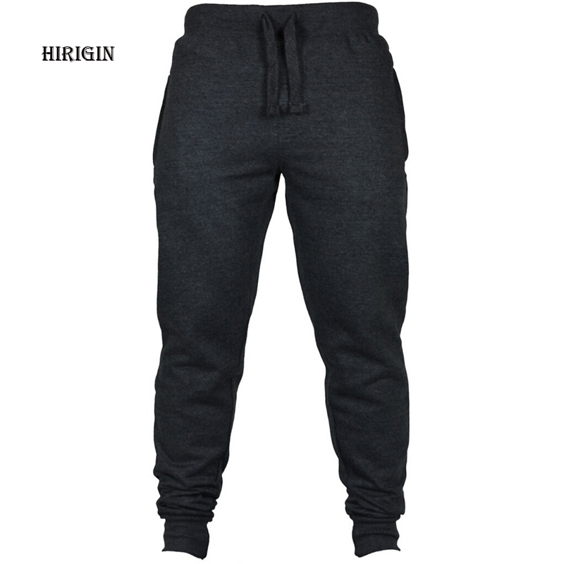 2019 Brand New Black Casual Pants Men's Joggers Male Trousers Sweatpants Jogger Elastic Cotton Fitness Workout Pants
