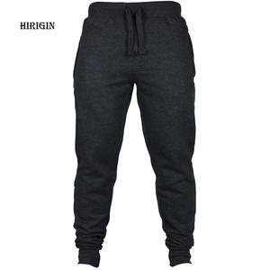 66918412aa4 HIRIGIN Men s Joggers 2018 Brand Male Trousers Casual Pants Sweatpants  Jogger Black Casual Elastic cotton Fitness Workout pants