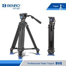 Benro БВ8 Видео Штатив Профессиональный Auminium Камеры Штативы БВ8 Видеоголовка QR13 Пластина Сумка DHL Бесплатная Доставка