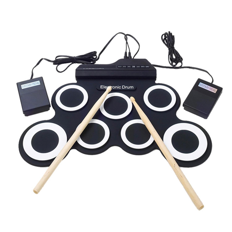 HLBY juego de Batería Electrónica/7 tambores electrónicos/7 tonos/8 canciones de demostración/7 almohadillas de batería FUNCIÓN DE metrónomo/entrada de instrumentos externos Ava-in Tambor from Deportes y entretenimiento on AliExpress - 11.11_Double 11_Singles' Day 1