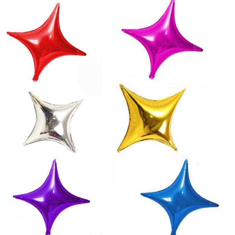 20 штук Метеор четырехконечной звезды Форма Фольга шар ребенок день рождения свадьба украшения поставки Baby Shower завышенным Игрушечные лошад...