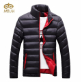 Stand Collar Winter Purple Navy Blue Cotton Winter Jacket Parka Hot Warm Fashion Brand Clothing Coats 3XL Big Size
