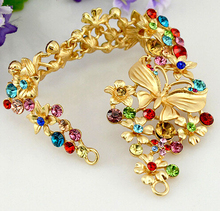 TS099 summer style bridal headdress Asian gold vintage hair jewelry color hair accessories wedding dress accessories