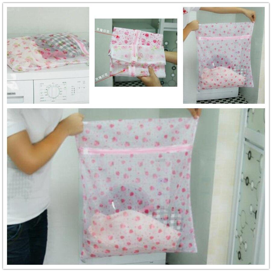 Derlook 2823 Print Nylon Fine Mesh Laundry Bag Bra Underwear Care Wash Bag 22g