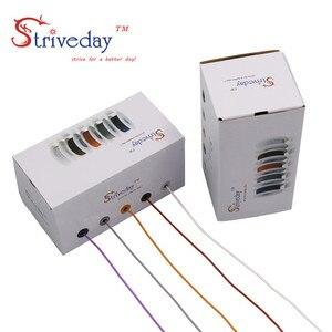 Image 5 - 50 m/box 164ft וו עד תקוע חוט כבל חוט 30AWG גמיש סיליקון חוטי חשמל 300V 5 צבע לערבב משומר נחושת DIY