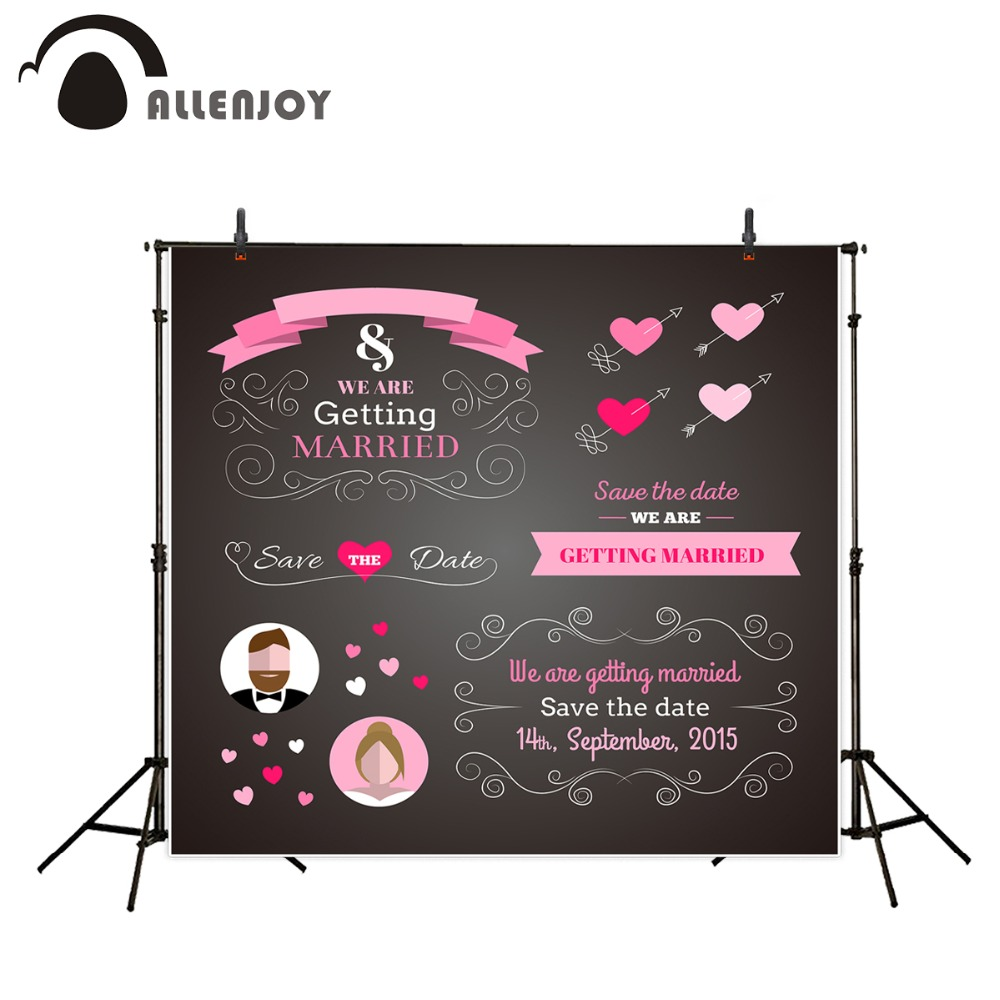 Allenjoy photography background vinyl backdrop wedding scene welcome poster blackboard custom Information for photobooth photography background baby shower step and repeat allenjoy backdrop custom made any size any style