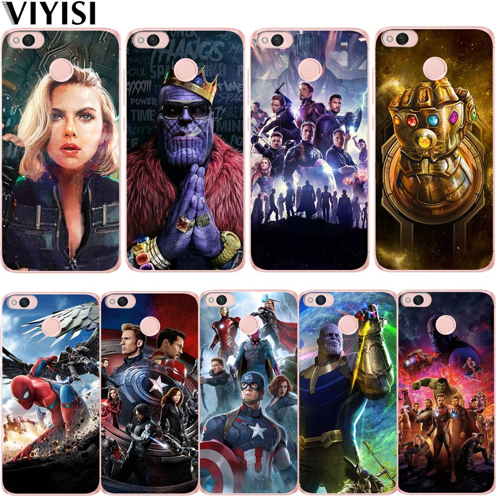 Phone <font><b>Case</b></font> For <font><b>Xiaomi</b></font> <font><b>redmi</b></font> <font><b>note</b></font> 7 mi 9 mi 8 Avengers <font><b>Marvel</b></font> Thanos Black Widow 5A 6 <font><b>4</b></font> A2 Lite A1 4X 6 4A 5X Etui Coque Cover image