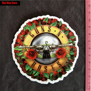 New Everybody likes ROCK Guns N' Roses Part 1 PVC notebook luggage fridge slide sticker Buy 3 Free 1(China)
