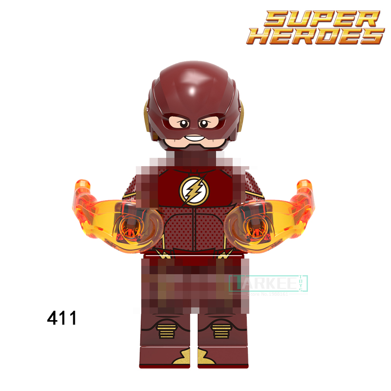Single Sale Action Building Blocks Iron Man Wally West 411 The Flash Figures Super Heroes Bricks Kids Toys for Children Gift single sale super heroes red yellow deadpool duck the bride terminator indiana jones building blocks children gift toys kf928