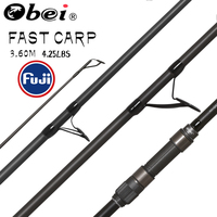 obei purista carp fishing rod Carbon Fiber Fuji Spinning Rod pesca 4.25lb power 40 160g 3.60m Hard Pole Surf Rod