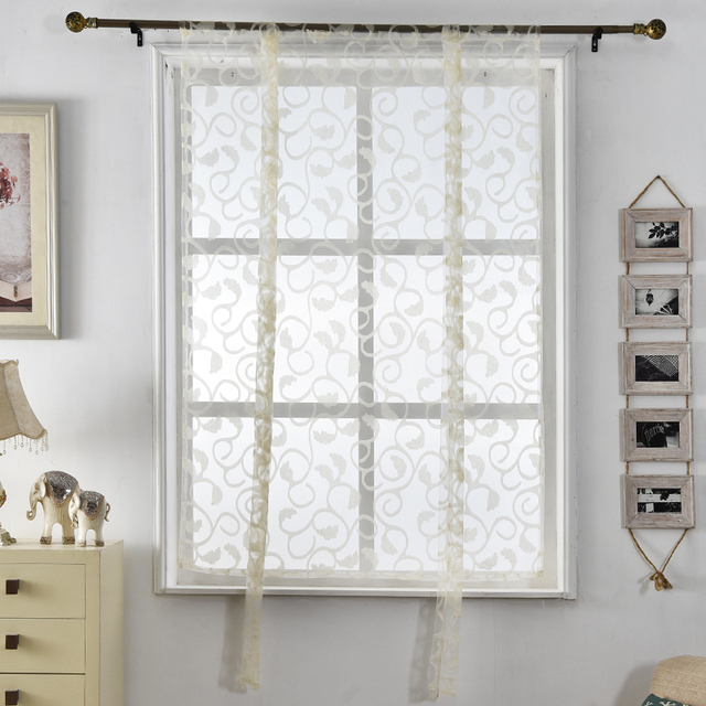 Kitchen Curtians Wall Signs Curtains Roman Floral Blinds Short Jacquard Sheer White Treatments Window Butterfly Curtain Door