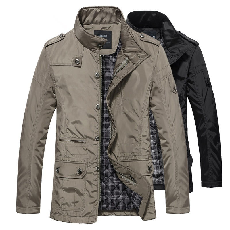 2020 Winter Men Jackets and Coats Leisure Windproof Thick Warm Jacket Men's Long Trench Coat Parka Clothing Drop Shipping