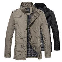 Veste et manteaux dhiver pour hommes pour loisirs, veste coupe vent épaisse et chaude, Trench Long pour hommes, Parka vêtements 2020