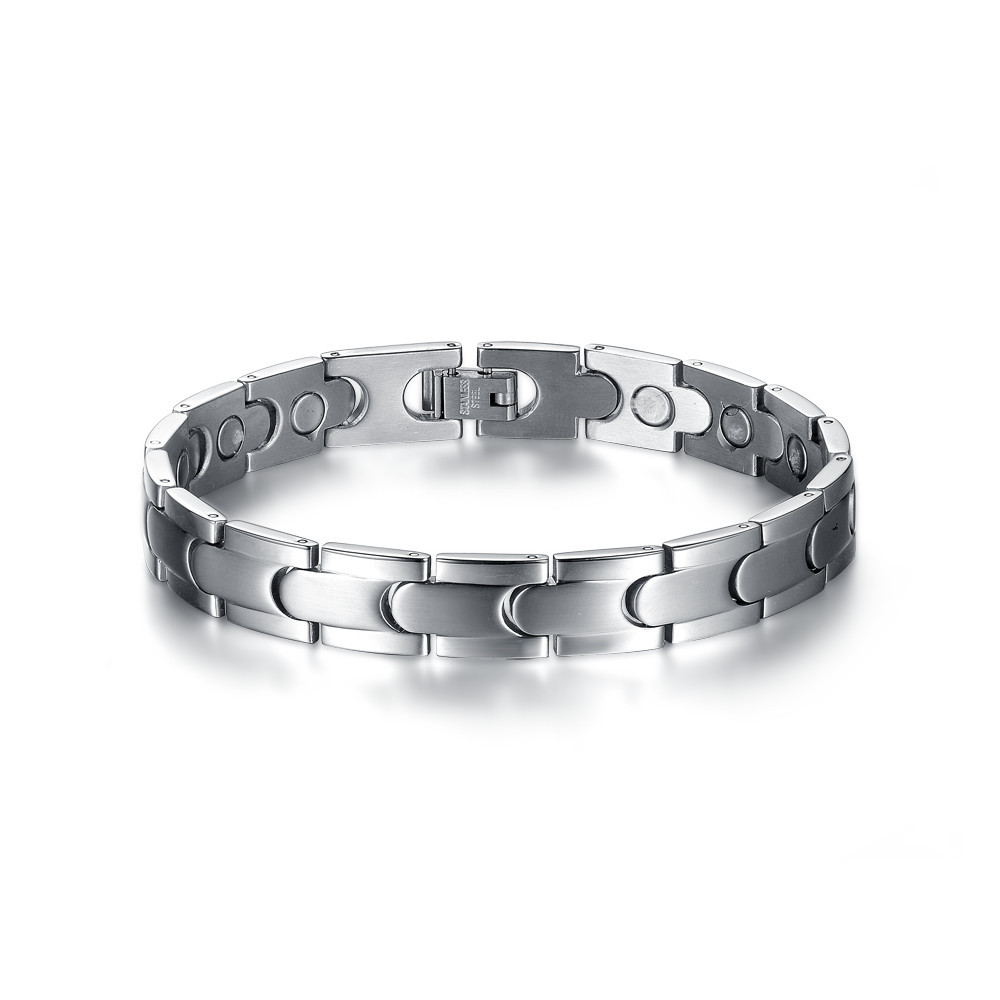 216mm 10mm 3mm Mens Stainless Steel Bracelet Brushed Chain Link Wrist Band Wristband Fashion Jewellery Free