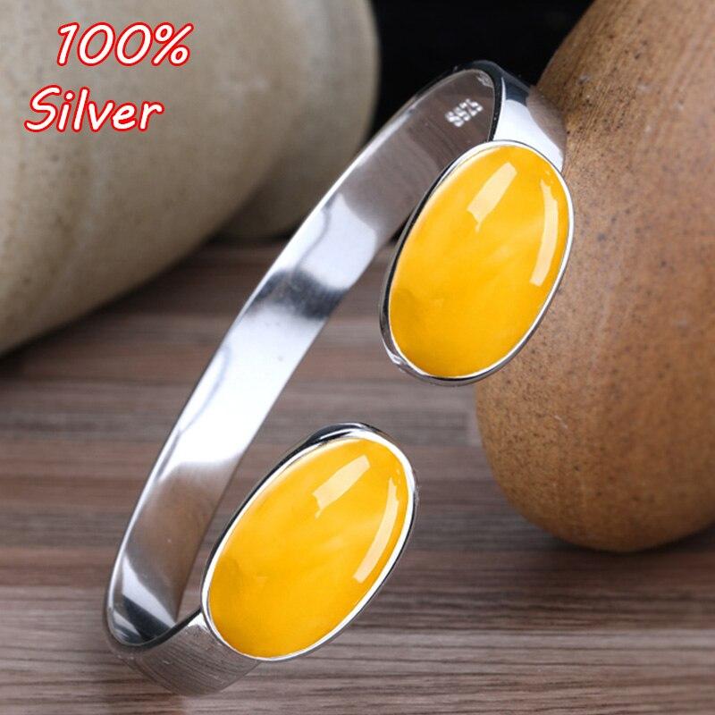 12*20.7mm 925 Bracelet en argent Sterling Bracelet blanc paramètres pour les femmes ovale Cabochon Fine bijoux Base couleur or blanc