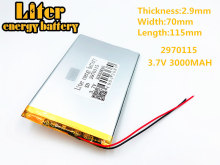 цены 3.7 V 3000 mah tablet battery brand tablet general polymer lithium battery 2970115 7 inch tablet PC battery