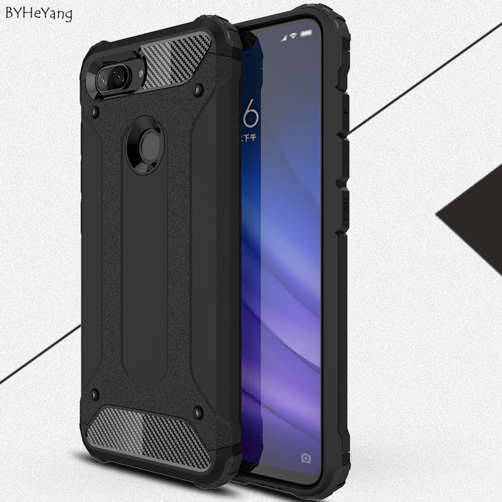 BYHeYang Cases For Xiaomi Mi8 Lite Case Cover Silicon soft TPU PC Slim Armor Shockproof cover For Xiaomi Mi8 Lite mi8lite shell xiaomi mi 8 aliexpress