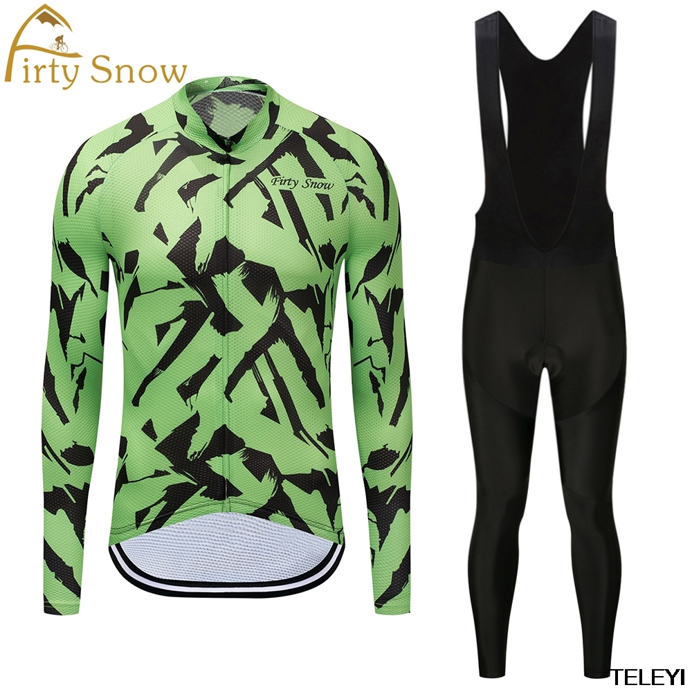 Firty snow Brand 2018 High Quality Pro Fabric Cycling Winter Thermal Fleece Jersey Long Set Ropa Ciclismo Bike Clothing Pants W0