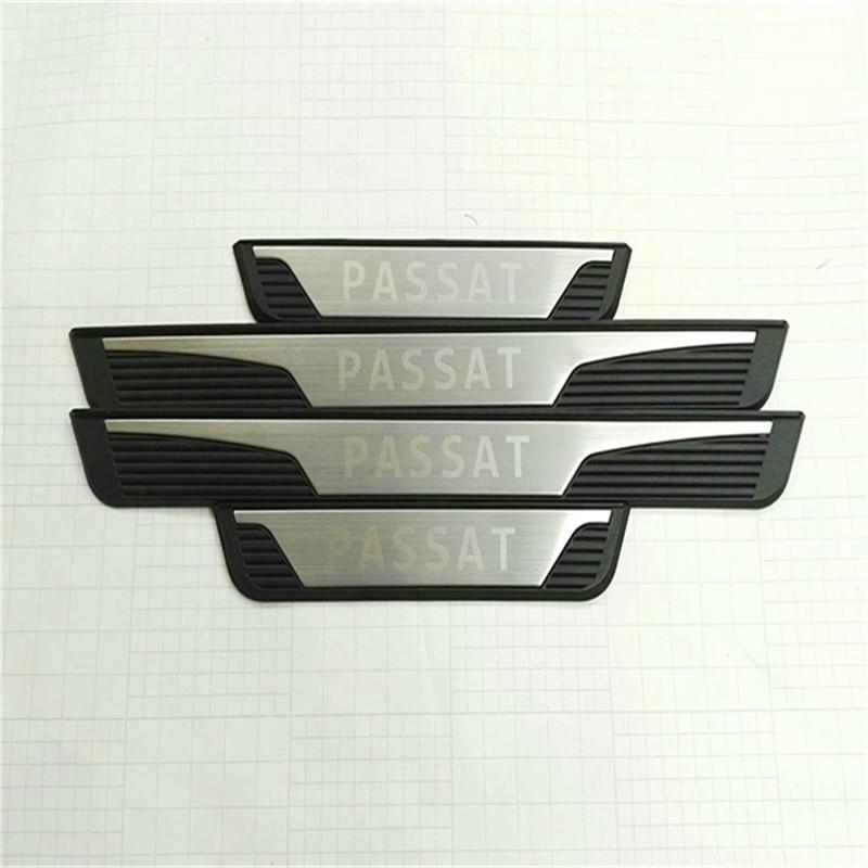 Door Sills For Volkswagen Passat B5 B7 2011 Passat Stainless Steel Scuff Plate Threshold Strip Car