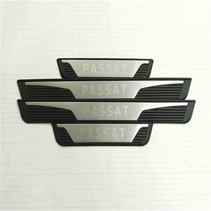Stainless Steel 4pcs Exterior Door Sills For Volkswagen Passat B7 VW 2011 Passat Scuff Plates Threshold Strip Car Styling набор автомобильных экранов trokot для vw passat b7 2010 2014 на передние двери tr0408 01