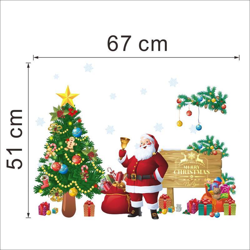 DIY Frohe Weihnachten Wandaufkleber Dekoration Weihnachtsmann ...
