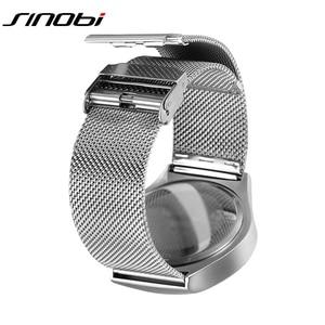 Image 5 - SINOBI ยี่ห้อ Creative กีฬานาฬิกาควอตซ์ผู้ชายสแตนเลสสตีลเวลานาฬิกาหมุนนาฬิกา Relogio Masculino