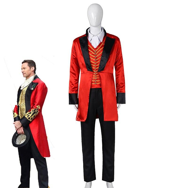 Film le plus grand Showman P.T. Costume de Cospaly Barnum enfants et Costume adulte Costume formel Halloween carnaval uniforme sur mesure
