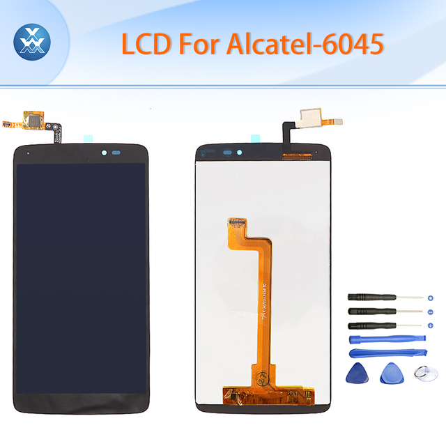 "5.5 ""black lcd original para alcatel idol 3 ot6045 one touch 6045 6045y display lcd touch screen digitador assembléia ferramentas gratuitas"