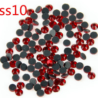 SS10 Siam 500 Gross Crystal Hot Fix Stones Glass Rhinestones DMC Strass For Garment DIY Handcraft