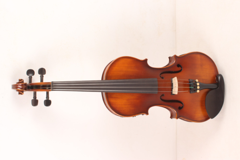 4-String 4/4 New Electric Acoustic Violin dark yellow  color   #1-2559# 5 string electric acoustic violin 4 4 full size maple spruce wood advance