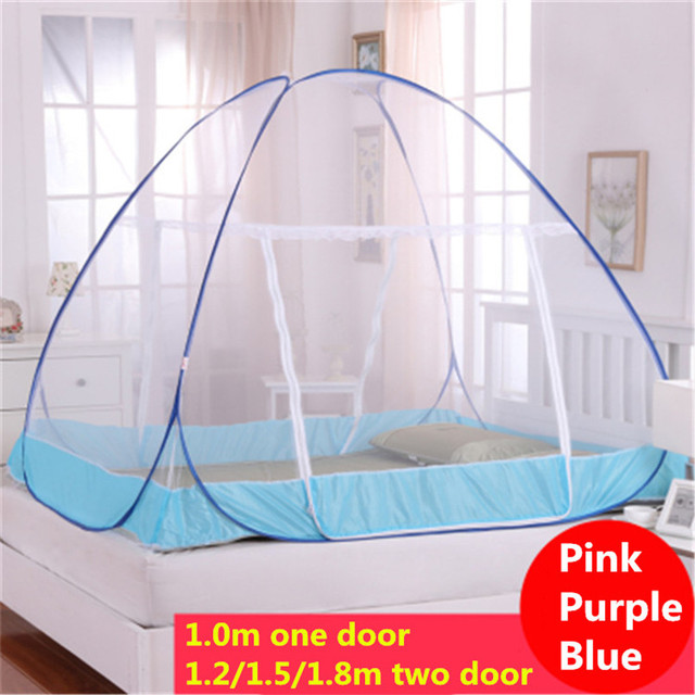 Mosquitera Camping 2016 Romantic Hung Dome Mosquito Nets for Bedding Set Purple/Blue Princess Bed Canopy Netting