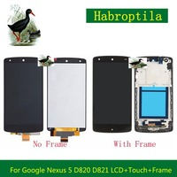 4.95 For LG Google Nexus 5 D820 D821 Full Lcd Display With Touch Screen Digitizer Panel Assembly Complete With Frame