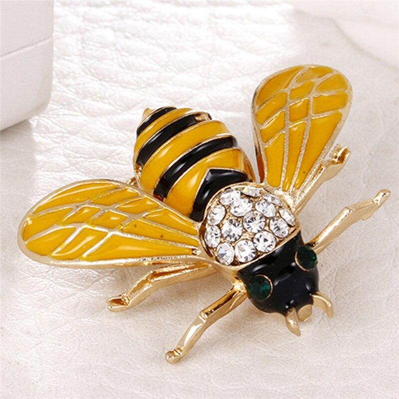 Пчела, жук, краб, муравьи, улитка, броши с птицами, Скорпион, стразы, Винтажные Украшения в виде животных, брошь - Окраска металла: 10